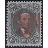 1867 15c Lincoln, F Grill, VF Used, Red Cancel, Cert.