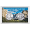 American Silver Eagle 3x5 Frosty Case, Mountain Forest