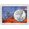 American Silver Eagle 2x3 Frosty Case, Snow-capped Mountain