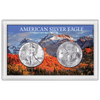 American Silver Eagle 3X5  inch Frosty Case, Snow-capped Mountain