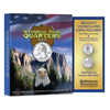 National Park Qtr Full Color Album with 2 Quarters