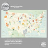 State Series Quarters 1999-2009 Collector Map-Botanical Edition  INTERIOR 2
