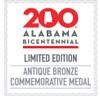 Alabama Bicentennial Sweet Home Commemorative Coin - Bronze COA