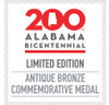 Alabama Bicentennial Alabama History Commemorative Coin - Bronze  COA