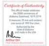 Alabama Bicentennial Alabama History Commemorative Coin Silver COA 2