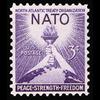 1952 3c NATO Mint Single