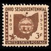 1953 3c Ohio Statehood Mint Single