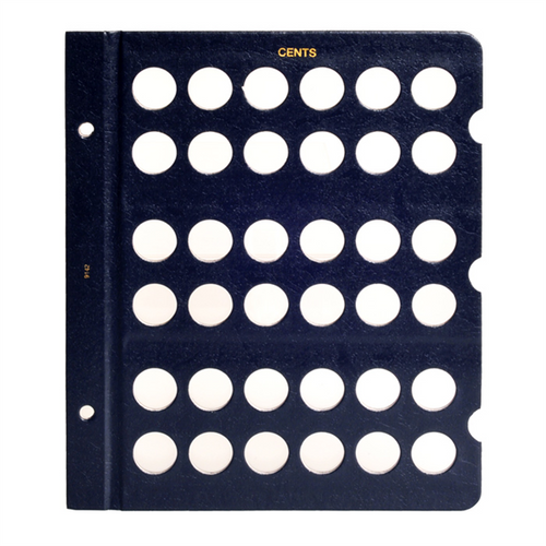 Whitman Coin Album Page Blank 38mm