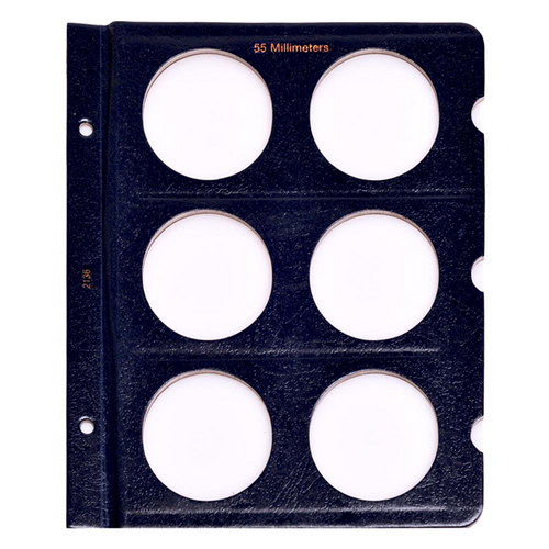 Whitman Coin Album Page Blank 20mm