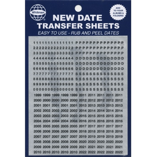 Whitman Coin Titles /& Dates LABELS Date Transfer Sheets For BLUE FOLDERS