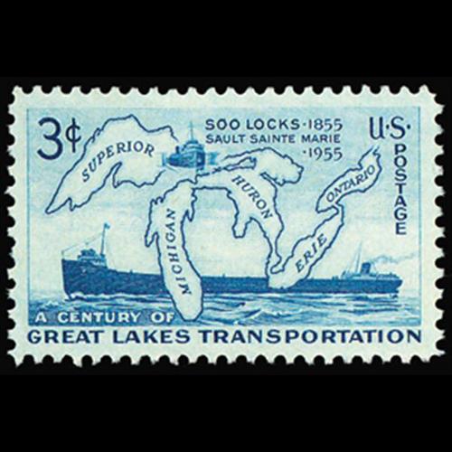 1955 3c Soo Lock Mint Single