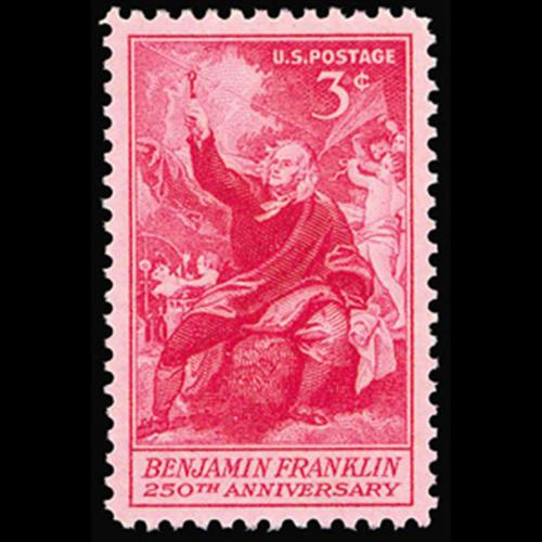 1956 3c Benjamin Franklin Mint Single