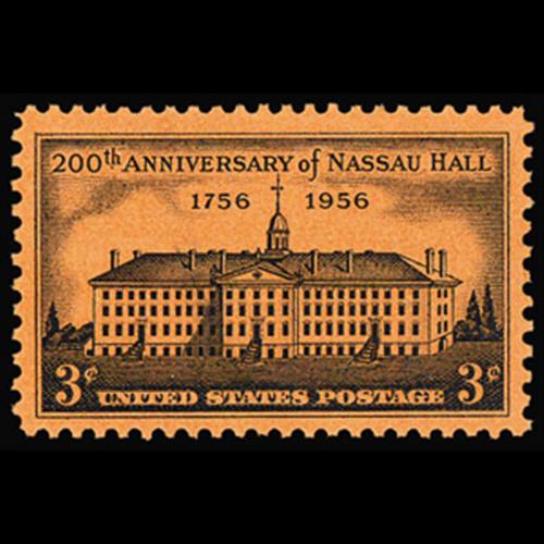 1956 3c Nassau Hall Mint Single