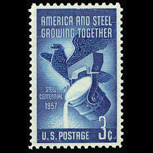 1957 3c Steel Industry Mint Single
