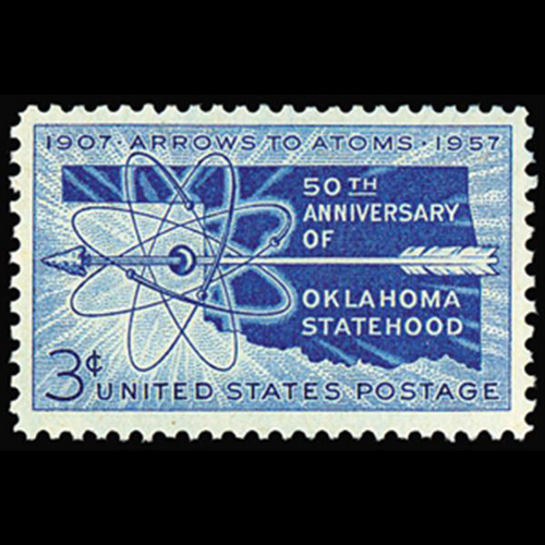 1957 3c Oklahoma Statehood Mint Single