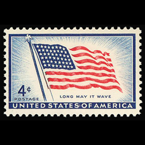 1957 4c 48-Star Flag Mint Single