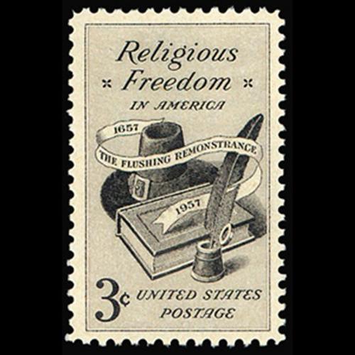 1957 3c Religious Freedom Mint Single