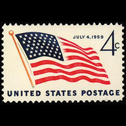 1959 4c 49-Star Flag Mint Single