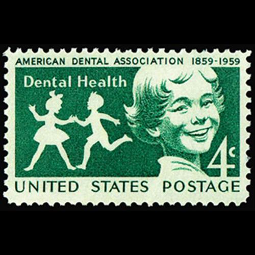1959 4c Dental Health Mint Single