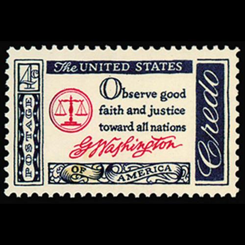 1960 4c Credo Washington Mint Single