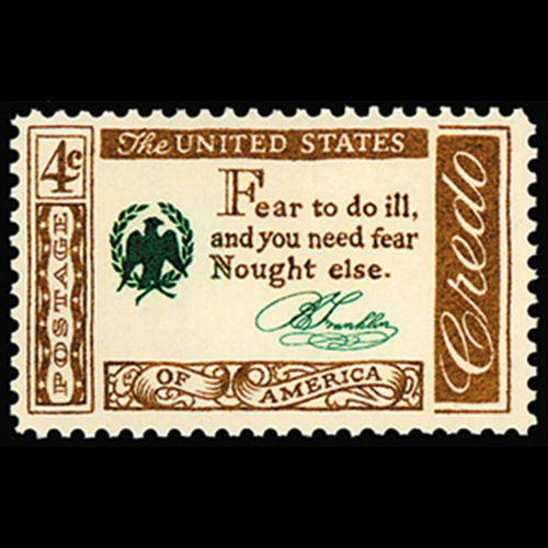 1960 4c Credo Franklin Mint Single