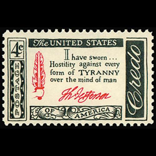1960 4c Credo Jefferson Mint Single