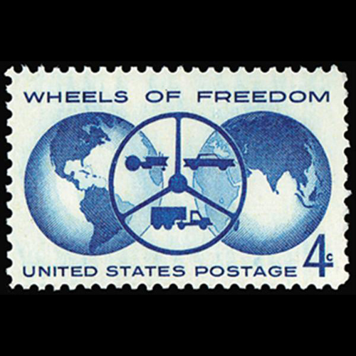 1960 4c Wheels of Freedom Mint Single