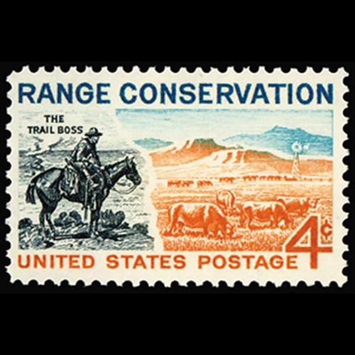 1961 4c Range Conservation Mint Single