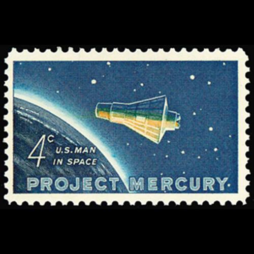 1962 4c Project Mercury Mint Single