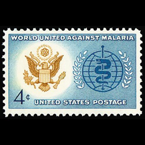 1962 4c Malaria  Eradication Mint Single