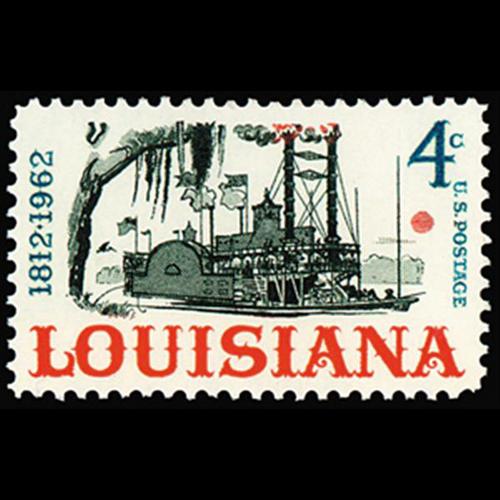 1962 4c Louisiana Statehood Mint Single