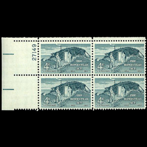 1962 4c Homestead Act Plate Block