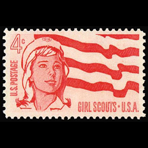 1962 4c Girl Scouts Mint Single