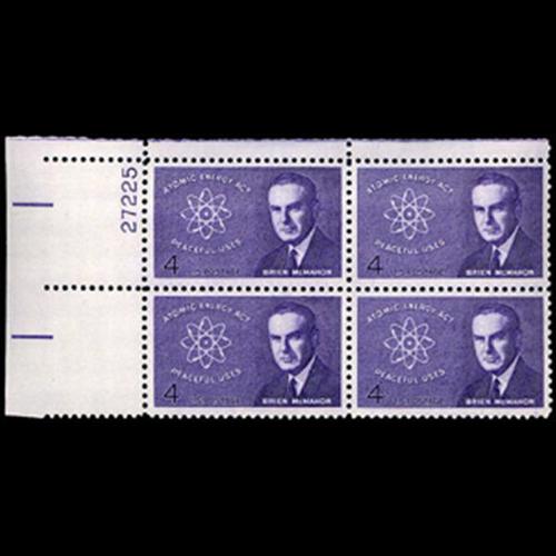 1962 4c Brien McMahon Plate Block