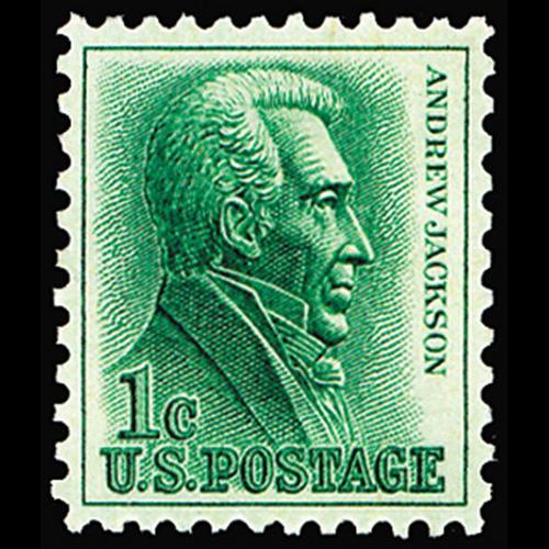 1963 1c Andrew Jackson Mint Single