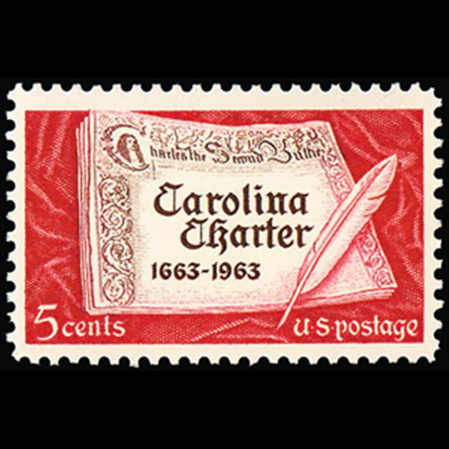 1963 5c Carolina Charter Mint Single