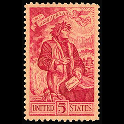 1956 5c Dante Alighieri Mint Single