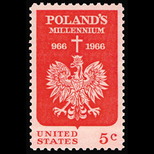 1966 5c Polish Millennium Mint Single