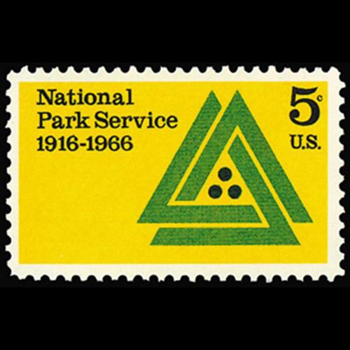1966 5c National Park Service Mint Single