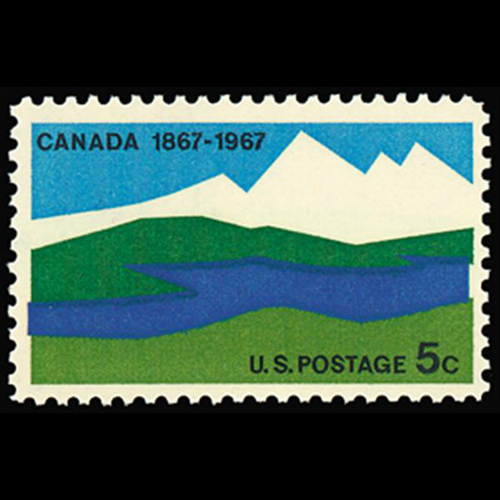 1967 5c Canada Centennial Mint Single