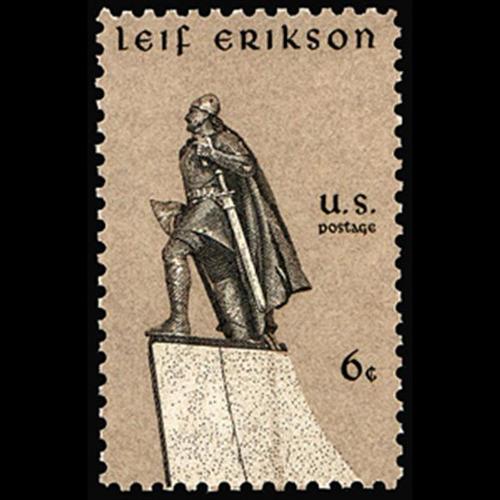 1968 6c Leif Erikson Mint Single