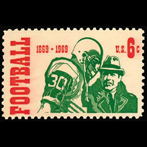 1969 6c College Football Mint Single