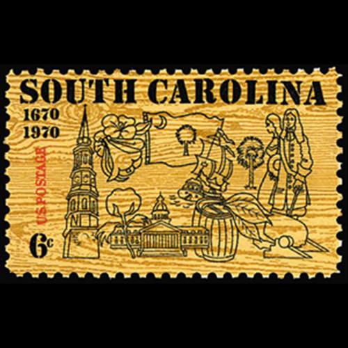 1970 6c South Carolina Tercentenary Mint Single