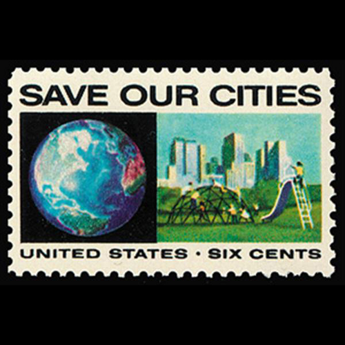 1970 6c Globe & City Mint Single