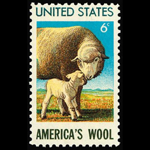 1971 6c Sheep Mint Single