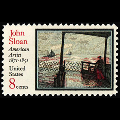 1971 8c John Sloan-Artist Mint Single