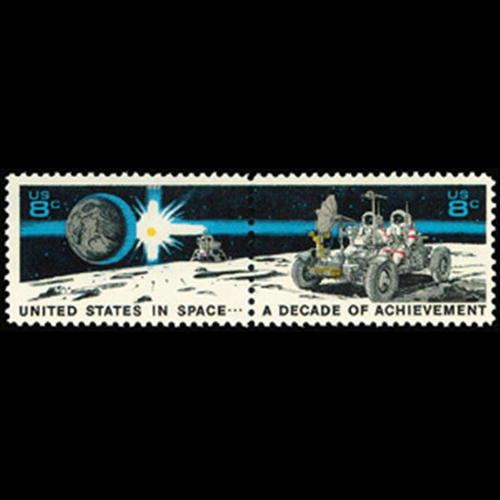 1971 8c Space Achievements Mint Pair