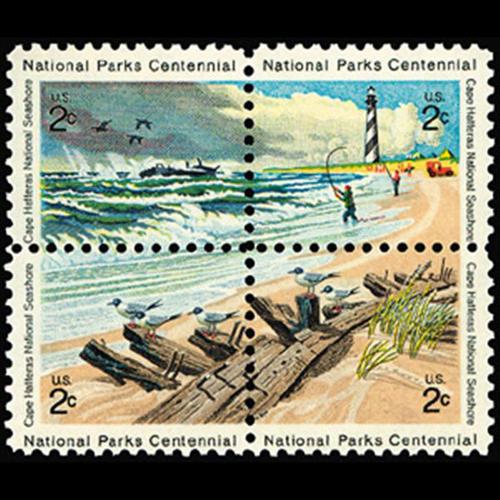 1972 2c Cape Hatteras Mint Block