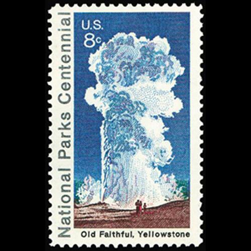 1972 8c Yellowstone Park Mint Single