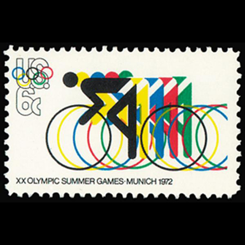 1972 6c Olympics-Cycling Mint Single